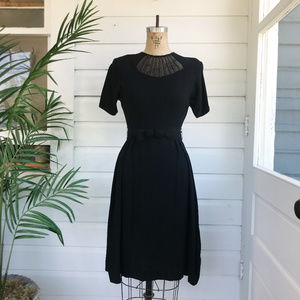 Vintage 50s Deadstock Gay Gibson Button Back Dress